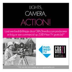 De actiebon van onze actie met #Zuidwest TV. Gratis* commercial bij afname van een #bedrijfsfilm van #GRAZImedia.#Contacta. *Wij informeren je graag over de voorwaarden!