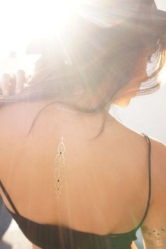 Live, Love, Wander Metallic Temporary Tattoos//