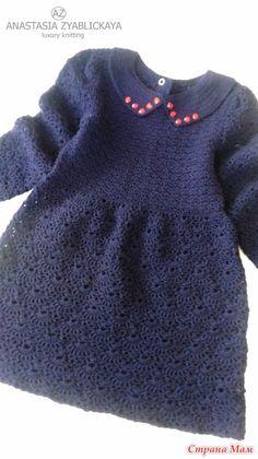 Пррривеет!!!  пришла показать хвастик... для себя и для дочки  одна из любимых моделей детского платья... в это раз теплое)))  Ализе 800 в 1нить, крючок №2.