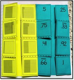Interactive notebook flipbooks for a unit on decimals!