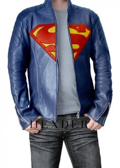 Superman Man of Steel Leather Jacket. ---Is this solely for men? Does it come in ladies? I am totally down for wearing this.