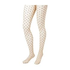 Women's Tights with Back seam Nude/Black Dots - Merona™ : Target ($10) ❤ liked on Polyvore featuring intimates, hosiery, tights, polka dot stockings, polka dot tights, polka dot hosiery, nude pantyhose and polka dot pantyhose