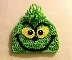 THE GRINCH Nightmare Before Christmas Halloween Beanie Hat Crocheted | eBay