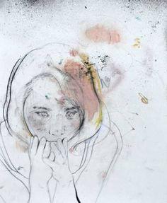 """Saatchi Art Artist Daniel Segrove; Drawing, """"Portrait No. 95"""" #art"""