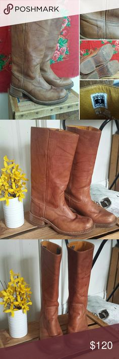 SALE!  FRYE boots Frye Campus boot leather boots Beautiful leather boot from Frye- always a classic, always in style! Great vintage vibes- wear with jeans or summer dresses for a boho chic style! Vintage boot in fabulous condition! No holes or tears - normal minor vintage wear. Frye Shoes Heeled Boots