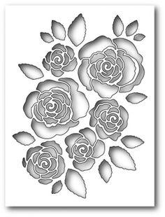 Memorybox Stanzform English Rose Collage 99435