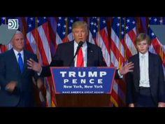 Video del discurso en inglés de Donald Trump tras ganar presidencia