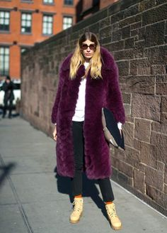 Purple fur coat    #real #fur #coat #style #fashion #designer #blogger #outfit #look #fluffy #colors #stylish #fashionweek #week #smile #beauty #fox #classy #chic #jacket #mfw #streetstyle #nyfw #pfw #lfw
