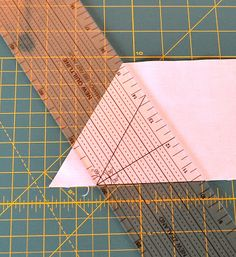 On the Windy Side: How to cut equilateral triangles - a tutorial