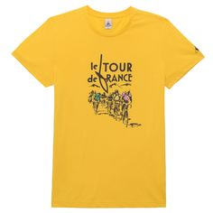 N°7 Tour de France T-shirt — For 100 years now the Tour de France has been thrilling racers and spectators every summer. Available in primary colours, this cotton T-shirt displays a snapshot of the race, immortalising riders giving it their all, generation after generation. In black and white, highlighted with jersey colours, this timeless and iconic image is captioned with a 1930s-inspired retro typeface.