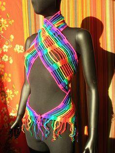 Rainbow Crochet Scarf #crochet #rainbow #scarf