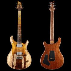 Impressive use of flamed/spalted maple on a PRS CU 22 Maple Stain, Spalted Maple, Beautiful Guitars, Roast, Curly, Electric, Leather, Natural, Top
