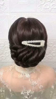 Hairdo For Long Hair, Bun Hairstyles For Long Hair, Bride Hairstyles, Headband Hairstyles, Hairstyle Braid, Beautiful Hairstyles, Party Hairstyles, Teenage Hairstyles, Quick Hairstyles