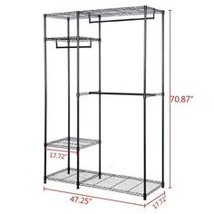 Garment rack portable wardrobe closet organizer clothes hanger home shelf Portable Wardrobe Closet, Diy Wardrobe, Closet Storage, Closet Organization, Wardrobe Rack, Storage Racks, Art Storage, Closet Shelves, Wardrobe Design