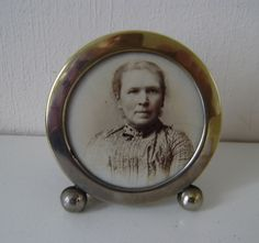 Victorian silver plate brass round easel back photo frame.photography,camera . in Antiques, Metalware, Brass   eBay
