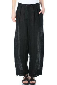 FORME D EXPRESSION - Light Grainy Linen Wide Pants