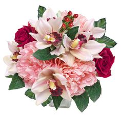 Peonies, Orchids and Roses