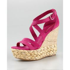 Hot Pink Wedges | ... wedge suede sandal hot pink $ 532 sold out neimanmarcus com hot pink