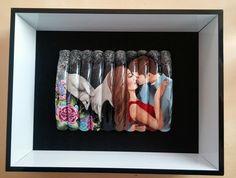 Tipbox nail art handpainted. Theme: love