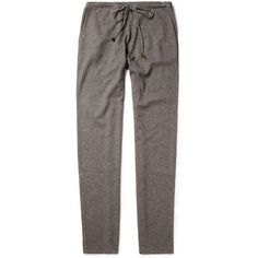 Loro Piana Cashmere and Silk-Blend Tracksuit Pants (7,405 EGP) via Polyvore featuring mens, men's clothing and grey