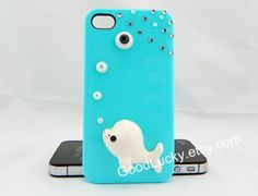 Hipsters jewelry iphone case,fish iphone case,Eye iphone case,studded iphone 4 case,Pearl iphone case,light blue Hard Cover Iphone 5 Case