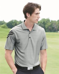 98c8156c Shop for adidas - Golf ClimaCool® Mesh Polo With Textured Pattern. Get free  delivery at Overstock - Your Online Men's Activewear Destination!