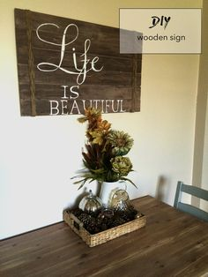 rustic wooden sign hand painted DIY!