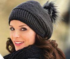 lutik-вязание крючком и спицами: шапочка крючком  с помпоном beanie crochet with po...