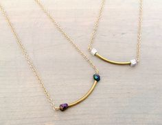 Simple Curved Rod and Multicolor Pyrite or White by chastina