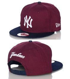 NEW ERA New York Yankees snapback cap Baseball Adjustable strap on back  Embroidered team logo on fro. df00a6e3753