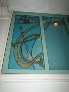 Art nouveau: Stained glass window in le Castel Béranger, by Hector Guimard, Paris, 16ème. This blog has lots of neat things about the architecture of Paris (in French).