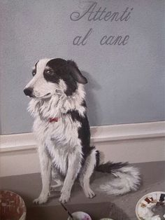 Ghirigori, Alessandra Borelli, trompe l'oeil esterno, Attenti al cane