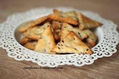 Крекеры с семенами льна