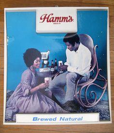 Antique Beer Sign from Hamms Beer Vintage Beer Signs, Hamms Beer, Old Beer Cans, Homemade Beer, How To Make Beer, Beer Brewing, Craft Beer, Funny Gifts, Brewery