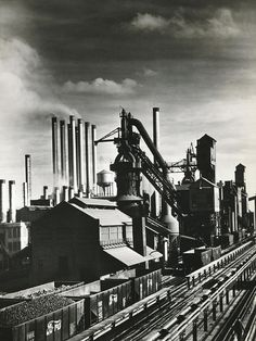 Ford's River Rouge Plant by Underwood Archives Dearborn Michigan, Industry Models, Detroit History, Abandoned Factory, Steel Mill, Military Working Dogs, Old Factory, Henry Ford