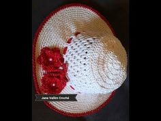 CHAPEU DE CROCHE ANGELICA - YouTube Sombrero A Crochet, Crochet For Beginners, Crochet Baby, Diy And Crafts, Beanie, Youtube, Hats, Crochet Mermaid, Holiday Crochet