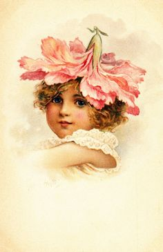 Harriett Mary Bennett - English - vintage postcard early 1900's. HMB initials can be seen when postcard is enlarged.