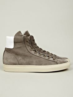 Common Projects Men's Vintage High Trainer in grey at oki-ni
