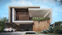 Modern Exterior House Designs, Modern House Facades, Modern Villa Design, Dream House Exterior, Modern Architecture House, Facade Architecture, Residential Architecture, Chinese Architecture, Futuristic Architecture