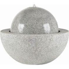 Brunnen Guapi Ø57xH55 cm, granitgrau in Garten & Terrasse, Teiche, Bachläufe und Brunnen, Bachläufe & Wasserfälle | eBay