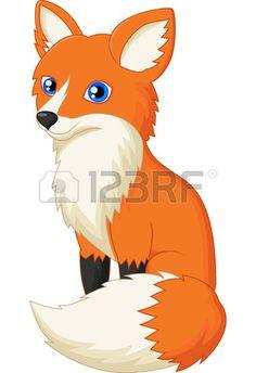 Illustration of Cute fox cartoon vector art, clipart and stock vectors. Cartoon Cartoon, Cartoon Monkey, Cartoon Images, Cartoon Characters, Cartoon Mignon, Fox Stock, Fuchs Illustration, Baby Animals, Cute Animals