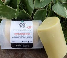 Shea and cocoa butters have excellent skin softening and conditioning properties. Can be used in the shower, or sliced as bath melts!