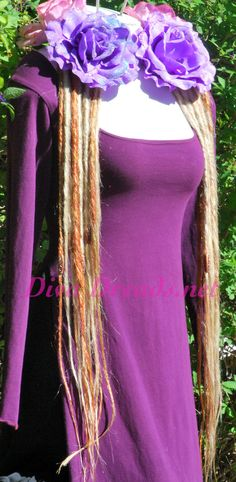 Platinum Blonde and Amber Dread Lock Falls by Diva Dreads on Etsy #Diva Dreads