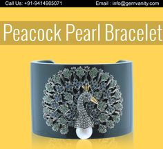 Peacock Pearl Bracelet Made