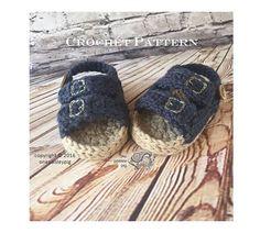 Baby Birkentocks - CROCHET PATTERN (cute ideas, fun diy)