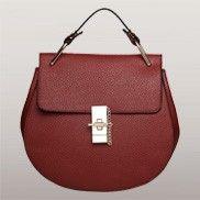 Joy Drew Faux Leather Shoulder Bag Burgundy