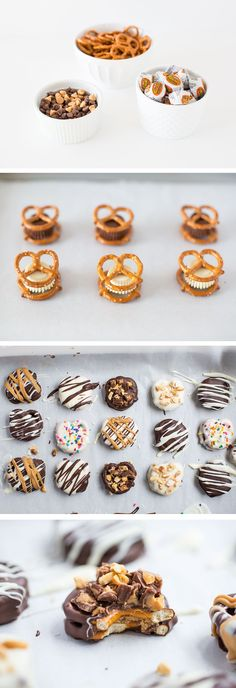 Chocolate Dipped Reese's Pretzel Bites - only 3 ingredients to make these delicious treats! They are the perfect sweet and salty combination!
