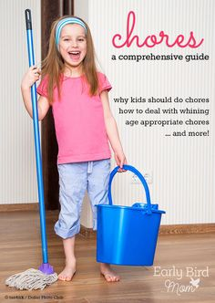 Do your kids do chores? This site has tons of tips and ideas about chores for kids by age including suggestions for age appropriate chores, chore chart printables and thoughts on why this is so important for kids.