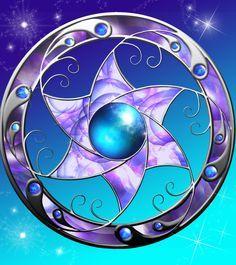 Darla-Illara Starflower by *DragonDew on deviantART Heart With Wings Tattoo, Dragon Star, Panda Art, Power Colors, Magic Symbols, Female Dragon, Occult Art, Purple Art, Star Tattoos