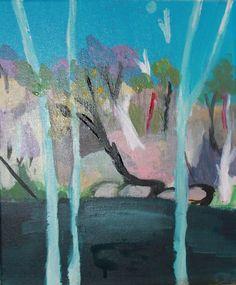 Arthur Boyd Landscape acrylic painting